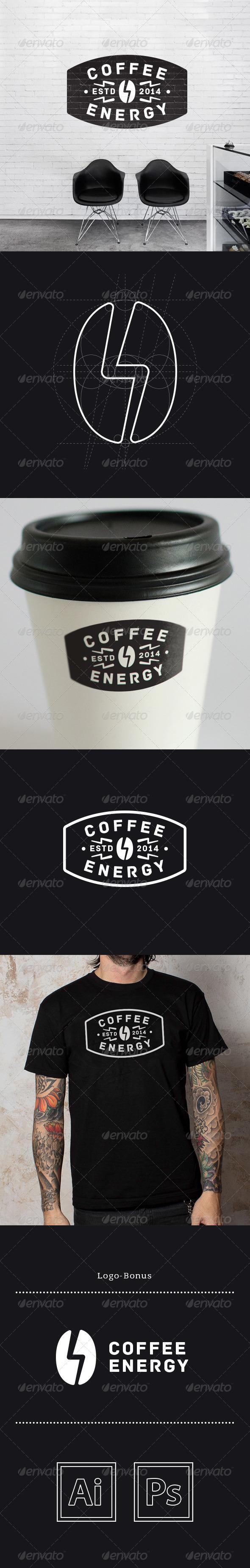 GraphicRiver Coffee Energy Logo 6580687