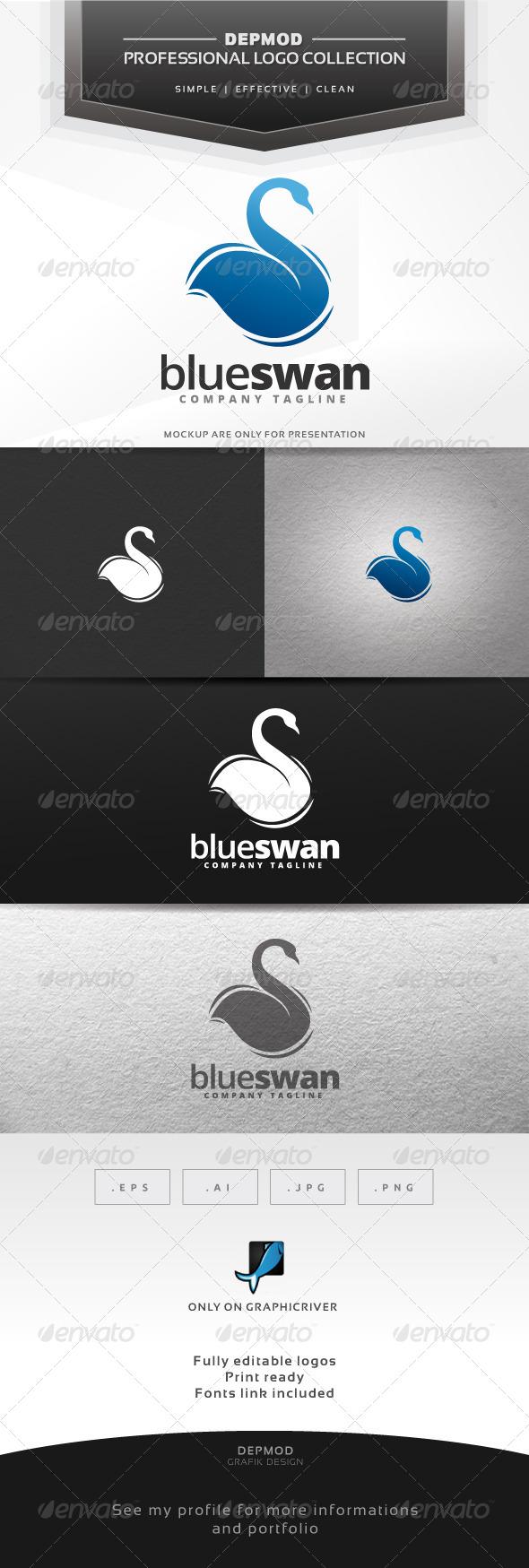 GraphicRiver Blue Swan Logo 6592428
