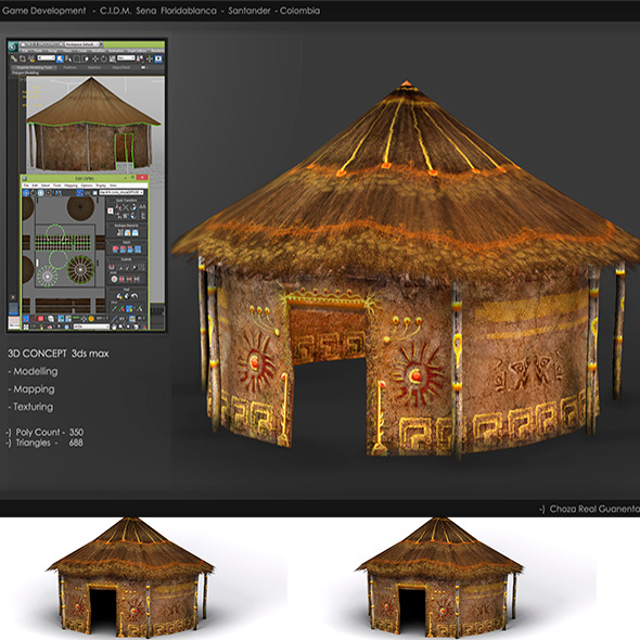 Hut_Realistic_Low_Poly - 3DOcean Item for Sale