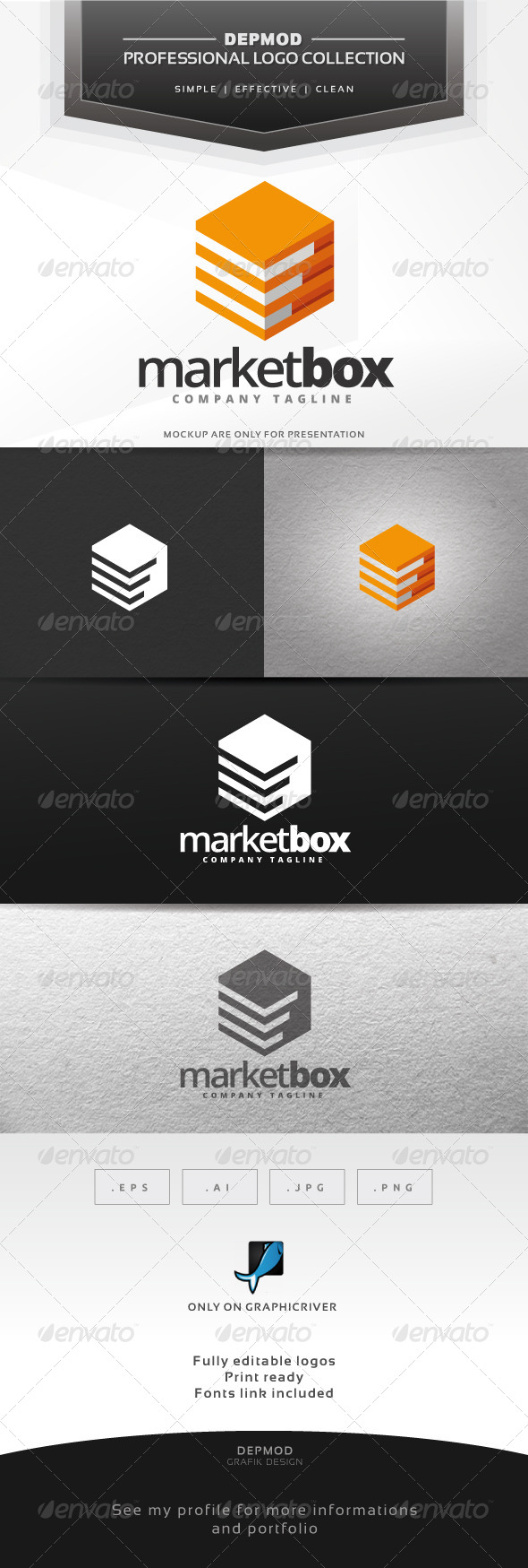 Market Box Logo - Abstract Logo Templates