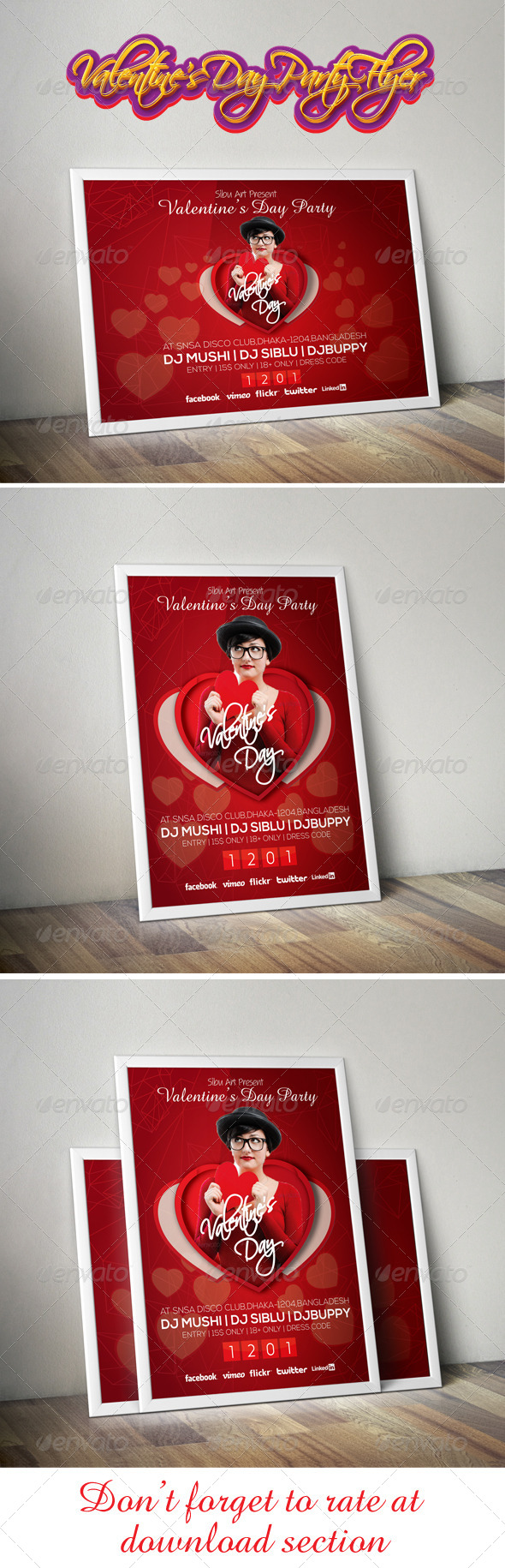 GraphicRiver Valentine s Day Party Flyer 6582697