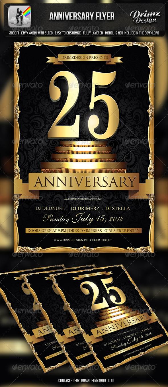 GraphicRiver Anniversary Flyer 6592590