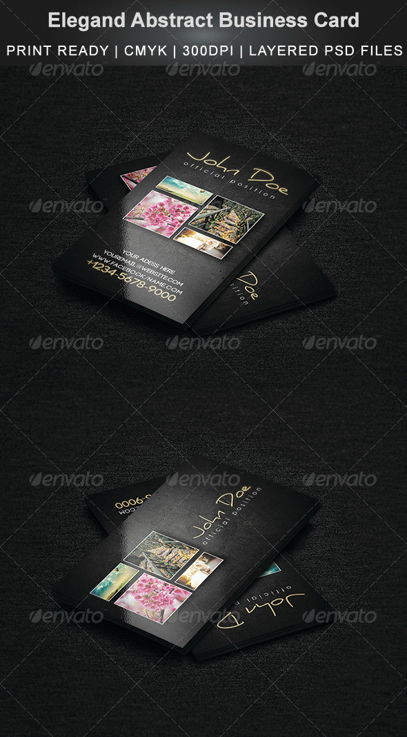 GraphicRiver Elegand Abstract Business Card 6592631