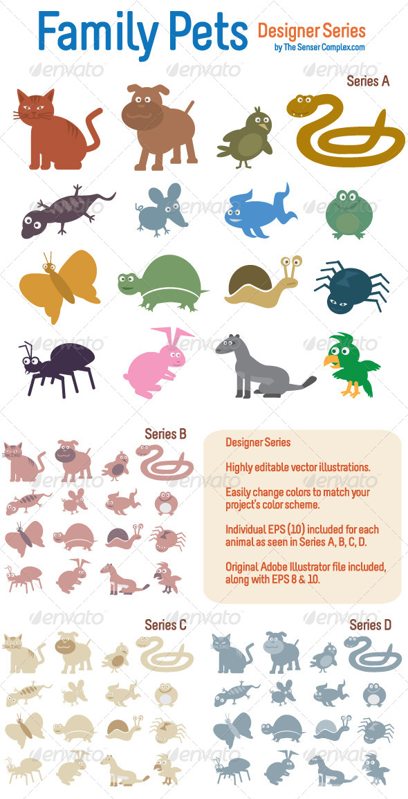 GraphicRiver Family Pets 6592673