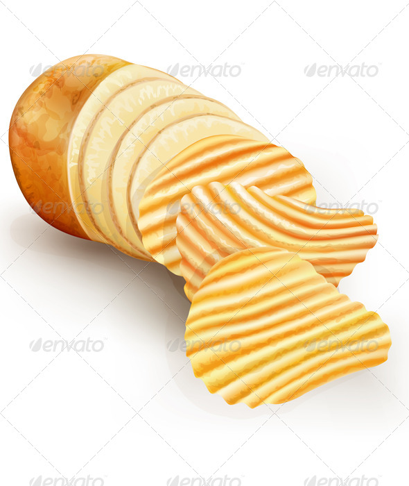 GraphicRiver Wavy Potato Chips 6527517