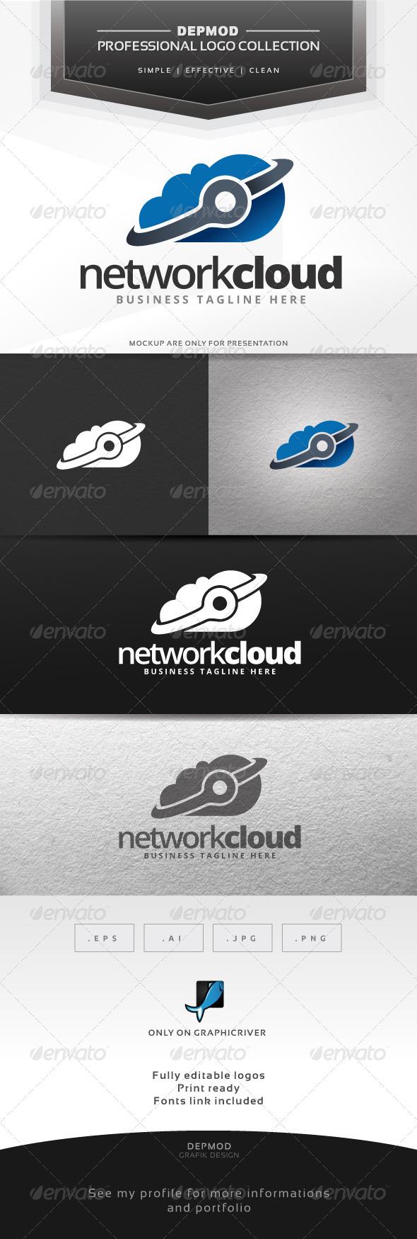 GraphicRiver Network Cloud Logo 6592817