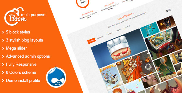 Image of Boom - Multi-Purpose Drupal Theme