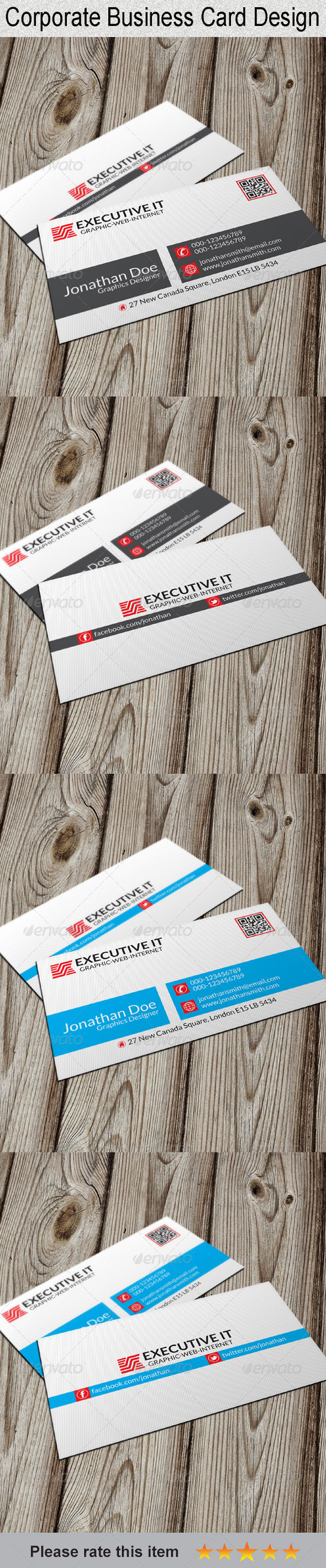 GraphicRiver Corporate Business Card 6592823