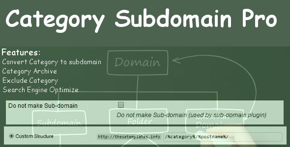 CodeCanyon Category Subdomain Pro 6567807