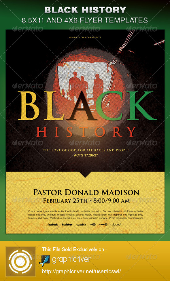 Black History Month And Bright Graphics Designs Templates