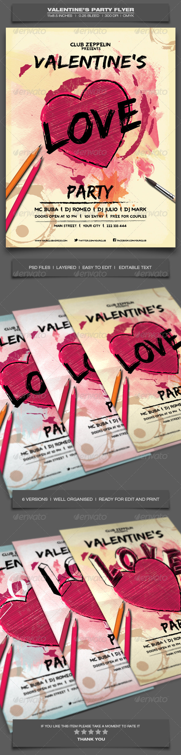 GraphicRiver Valentine s Day Party Event Flyer Template 9 6592854