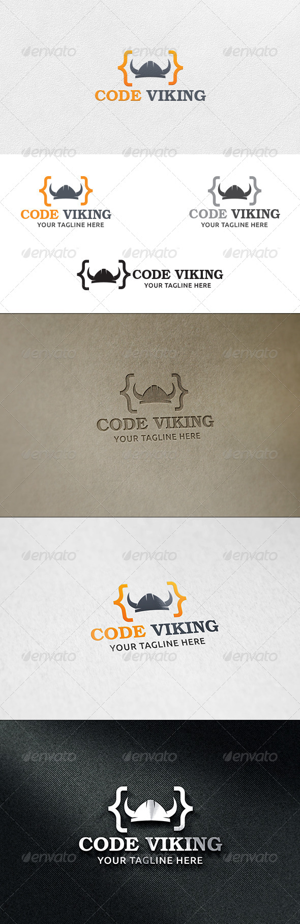 GraphicRiver Code Viking Logo Template 6592959