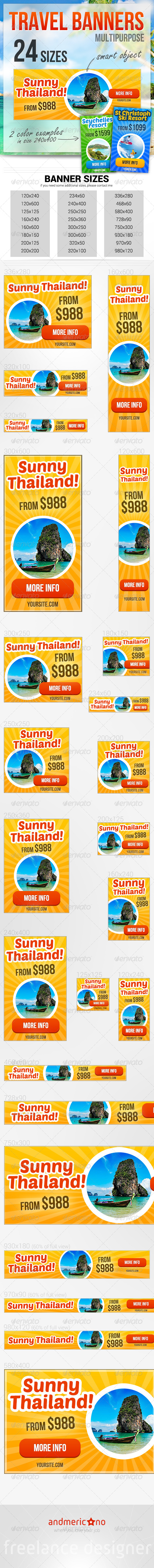 GraphicRiver Travel & Holidays Banners 6592980