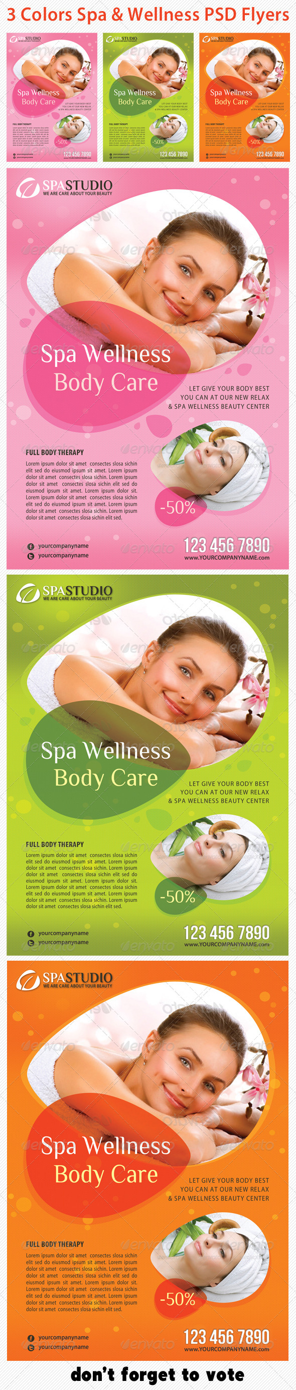Spa Studio Flyer 16 - Corporate Flyers