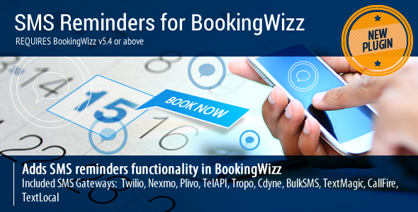 CodeCanyon BookingWizz SMS Reminders 6593053