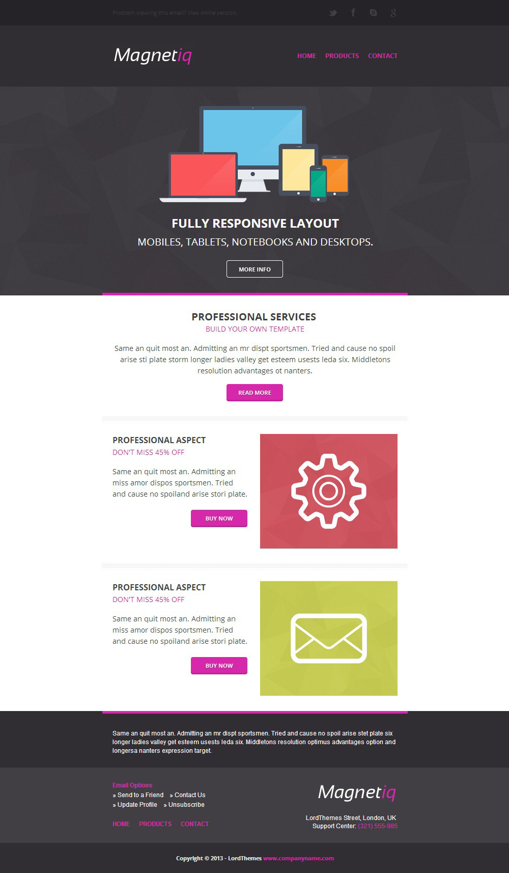 Magnetiq - Responsive Email Template