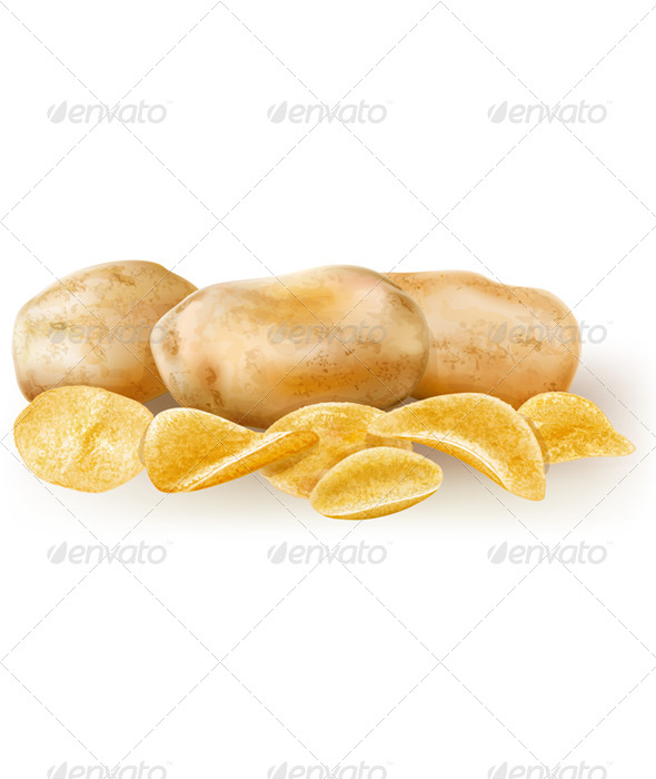 GraphicRiver Potatos and Potato Chips 6593227