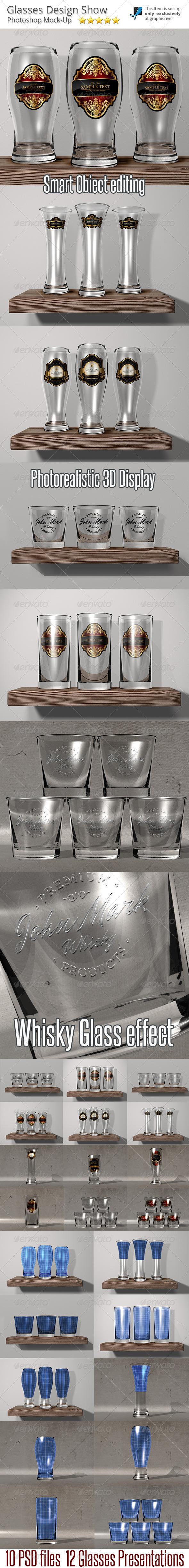 GraphicRiver Glasses Mock-Up Presentation 6593271