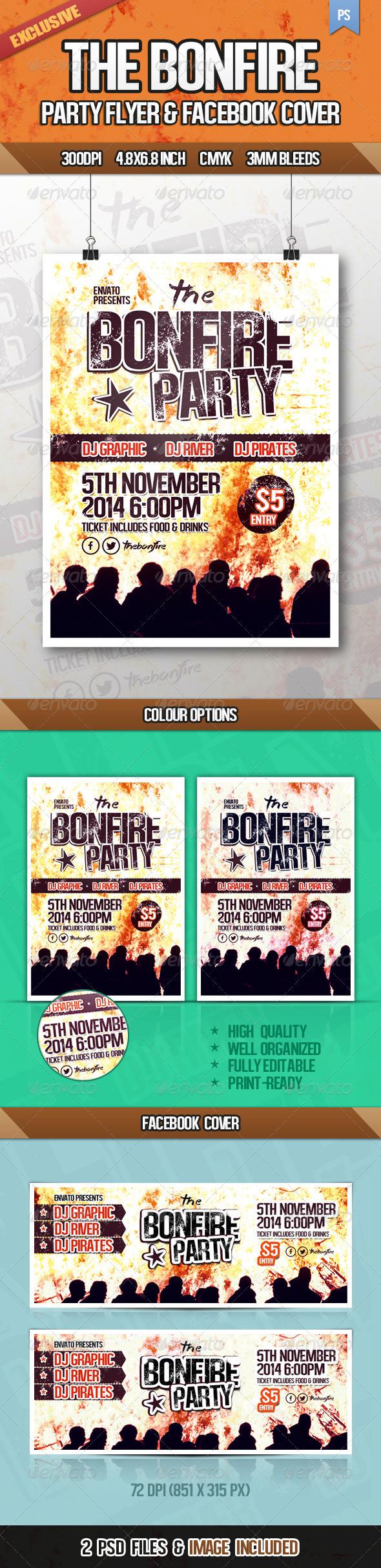 GraphicRiver The Bonfire Party Flyer 6593389