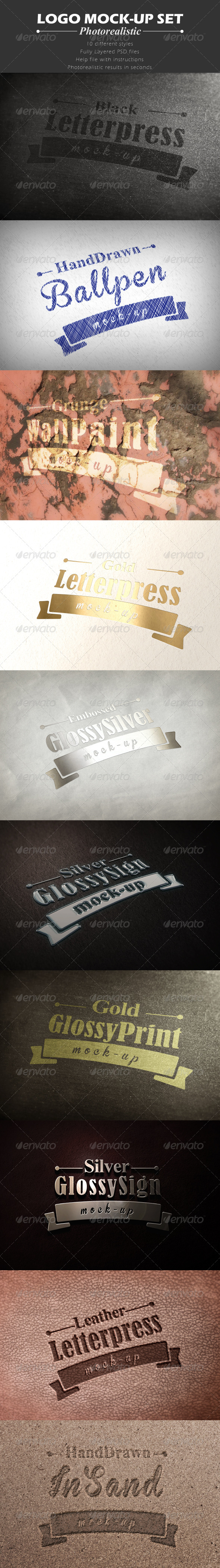 GraphicRiver Set of 10 Logo Mock-ups 6593464