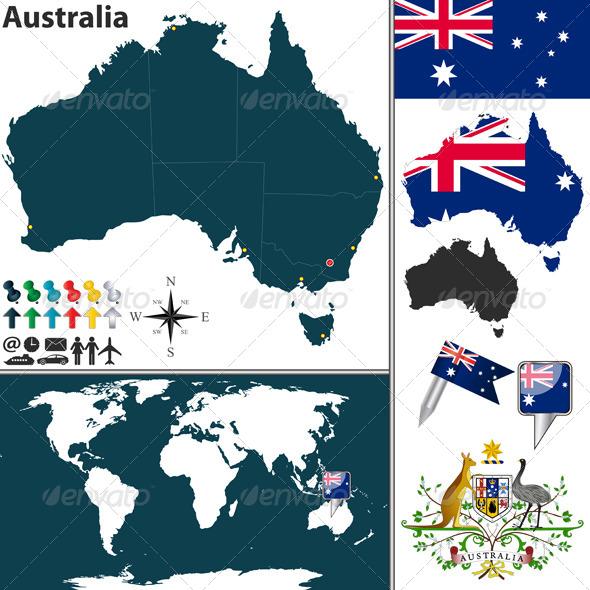 GraphicRiver Map of Australia 6593939