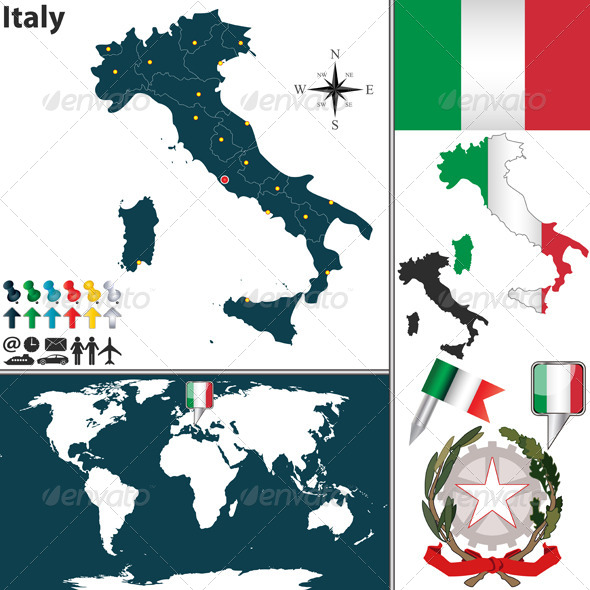 GraphicRiver Map of Italy 6594065