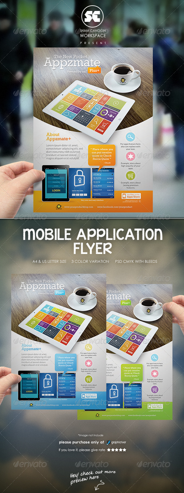 Mobile Apps Flyer/Magazine Ads - Commerce Flyers