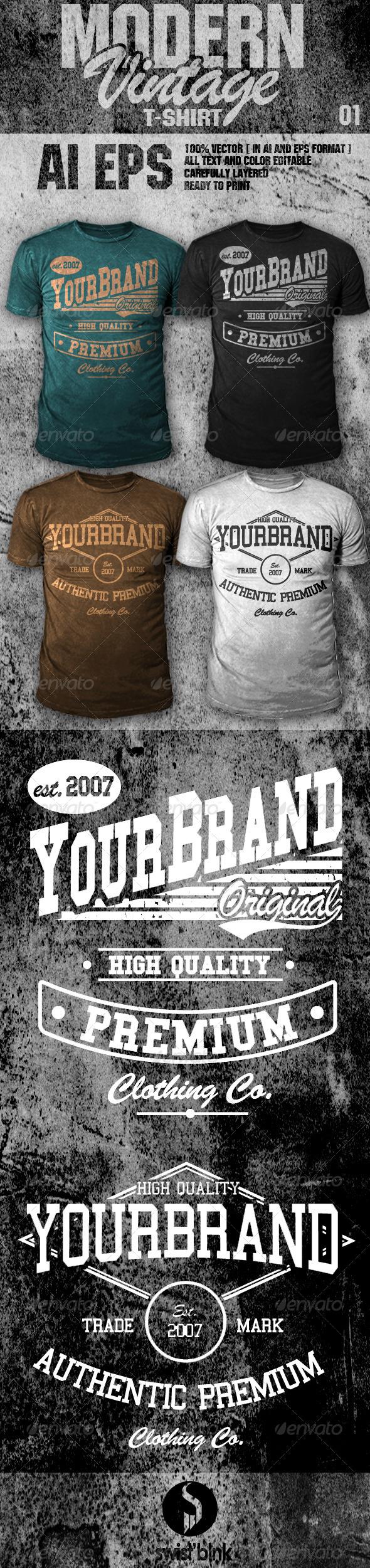 GraphicRiver Modern Vintage T-Shirt 01 6594379