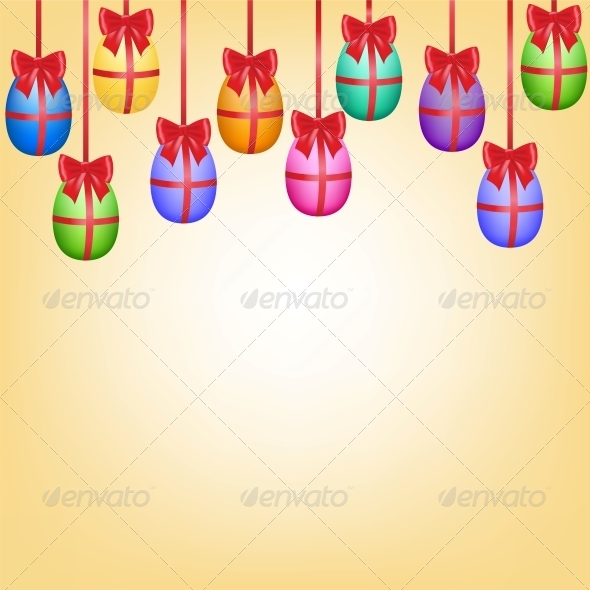 GraphicRiver Easter Hanging Eggs 6594506