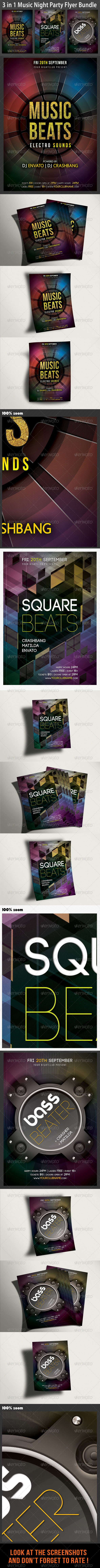 GraphicRiver Music Night Party Flyer Bundle 02 6594511