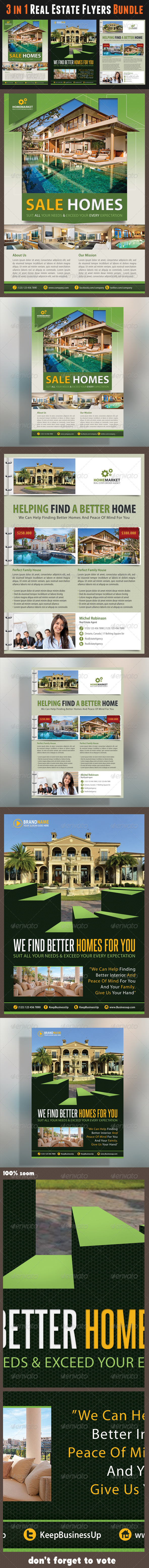 GraphicRiver 3 in 1 Real Estate Corporate Flyer Bundle 01 6594554