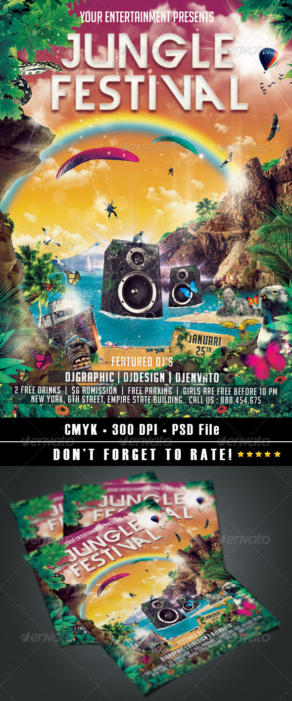 GraphicRiver Jungle Festival Flyer 6594608