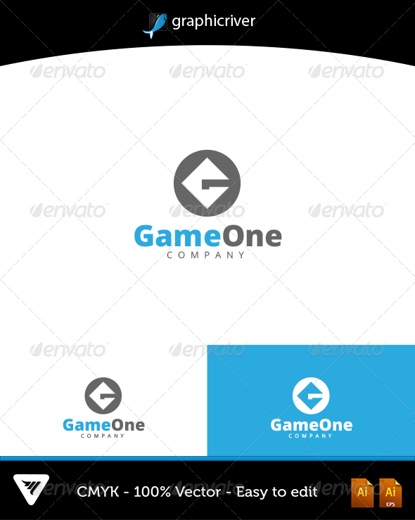 GraphicRiver GameOne Logo 6594770