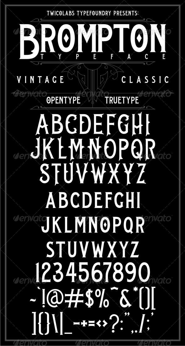 GraphicRiver Brompton Typeface 6594771