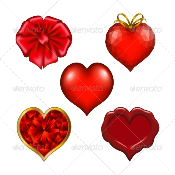 GraphicRiver Set of Hearts for Design 6594871