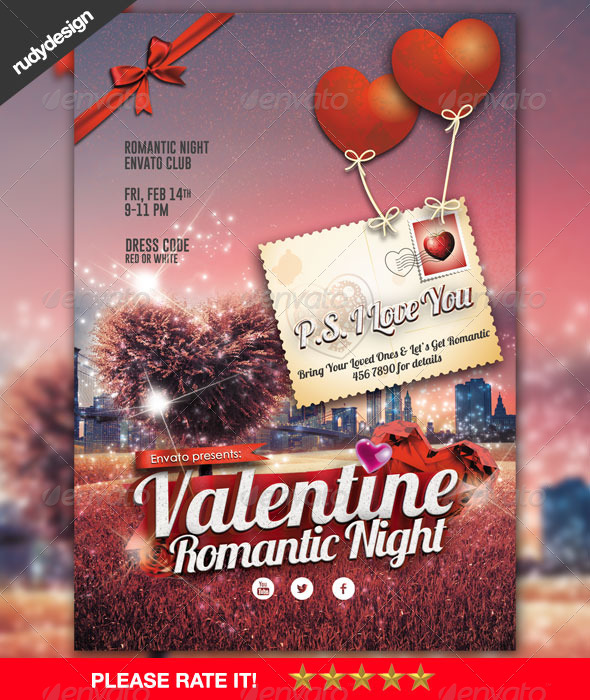 Romantic Valentine Flyer Design