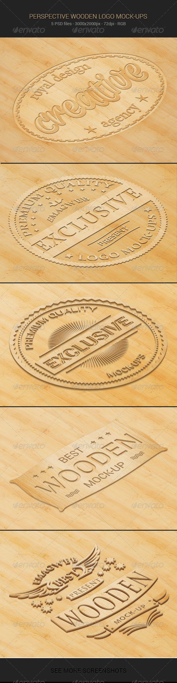 GraphicRiver Perspective Wooden Logo Mock-ups 6595034