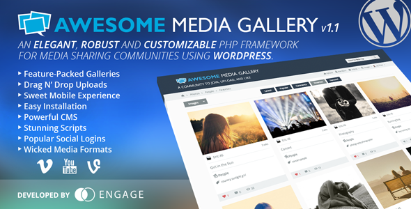 CodeCanyon Awesome Media Gallery Wordpress Plugin 6595131
