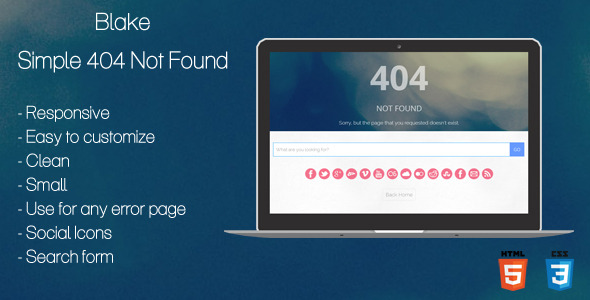 Blake - 404 Not Found Page