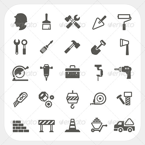 GraphicRiver Construction Icons Set 6595841