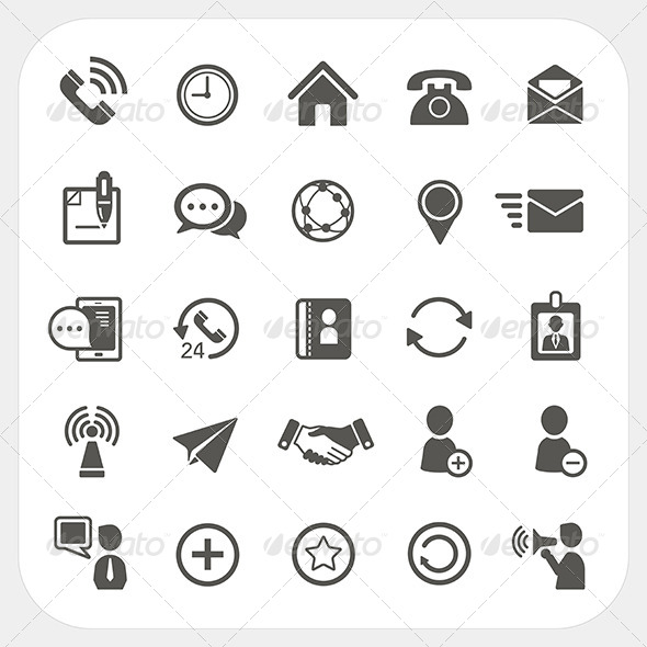 GraphicRiver Communication Icons Set 6595847