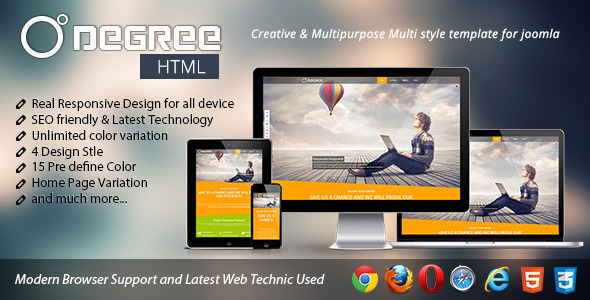 Degree Creative and Responsive Template - Creative Site Templates