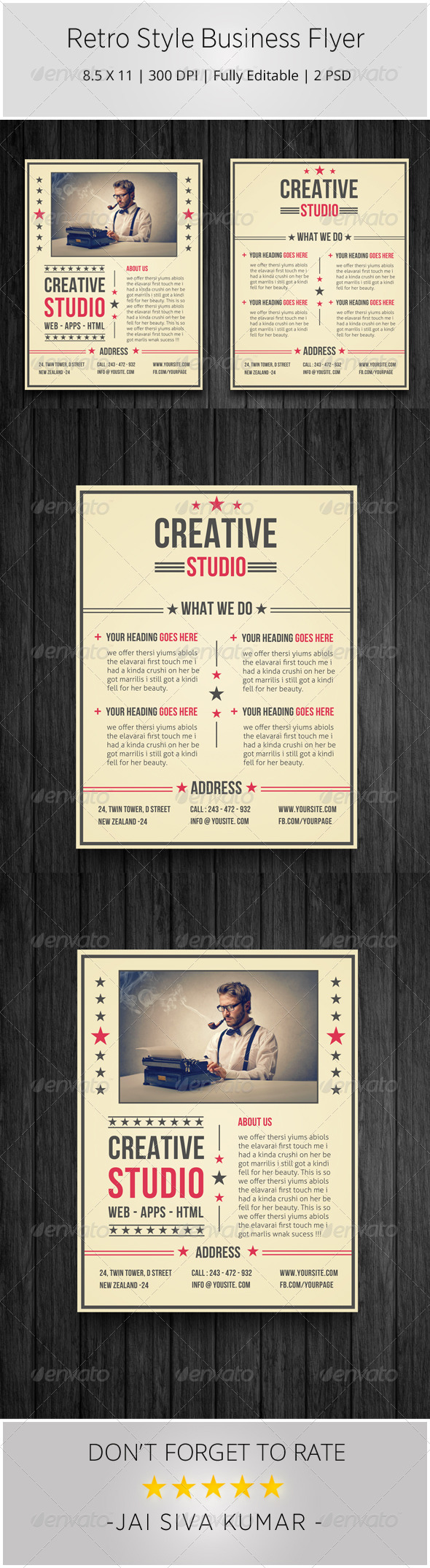 GraphicRiver Retro Style Business Flyer 6596497