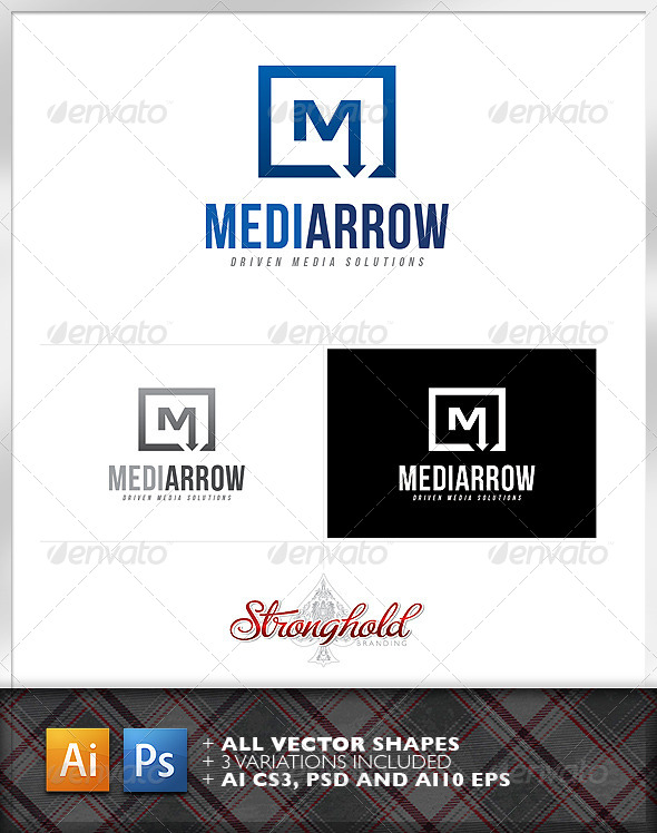 GraphicRiver Media Arrow Logo Template 6596527
