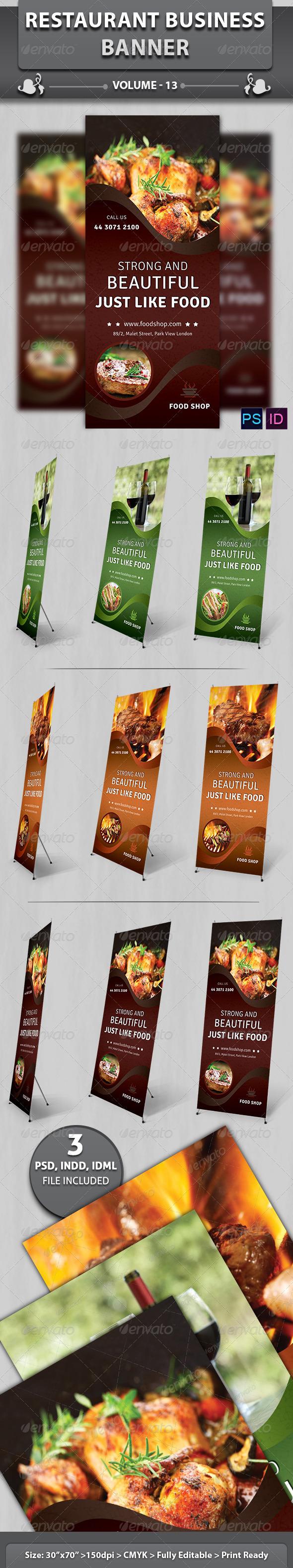 GraphicRiver Restaurant Business Banner Volume 13 6596616