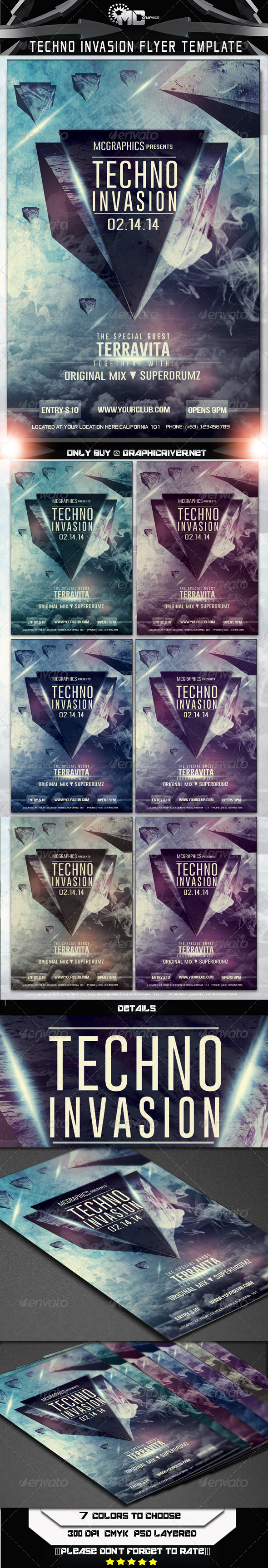 GraphicRiver Techno Invasion Flyer Template 6597107