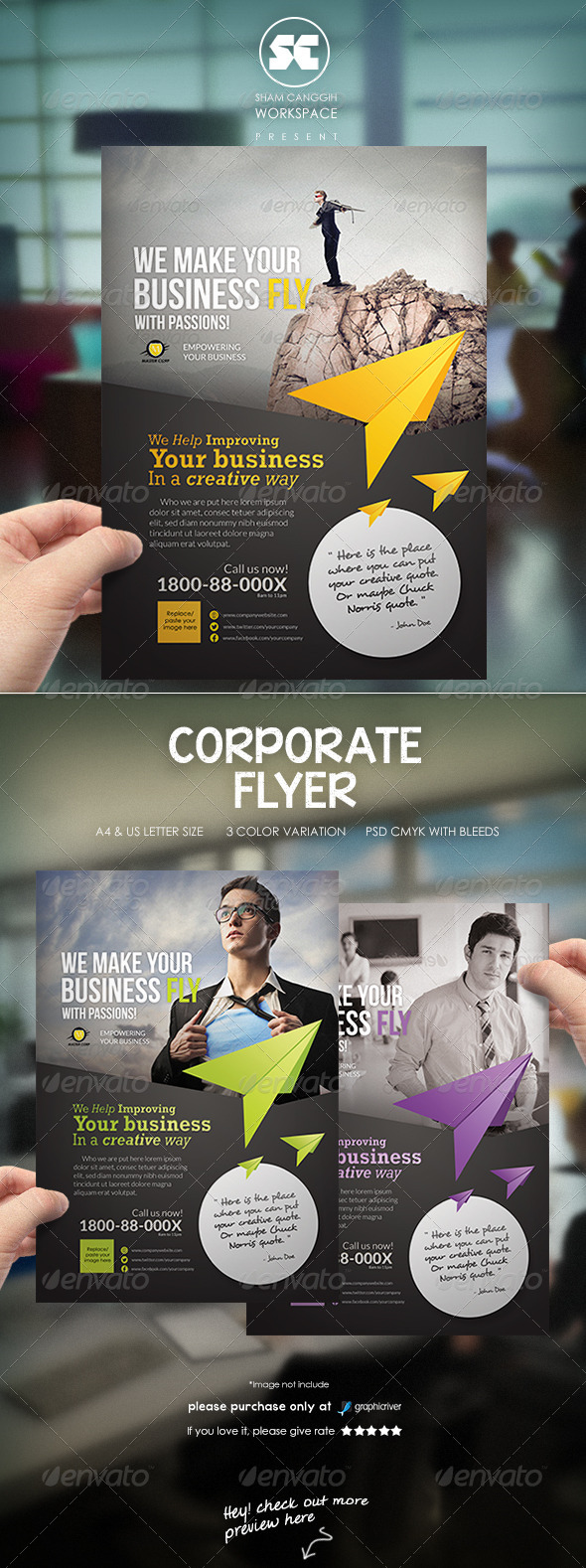 GraphicRiver Clean & Modern Corporate Flyer Magazine Ads 6592369