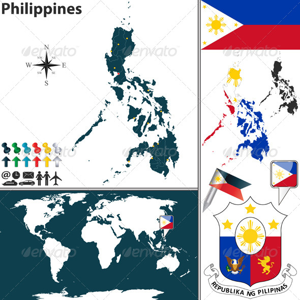 GraphicRiver Map of Philippines 6597205