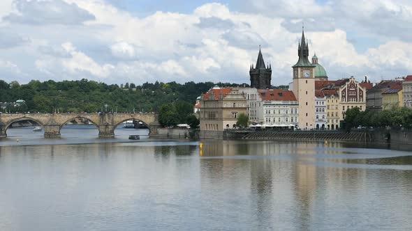 Prague City - Vanha kaupunki - Kaarlen silta - Vltavalle - Kaupunki Arkistofilmit