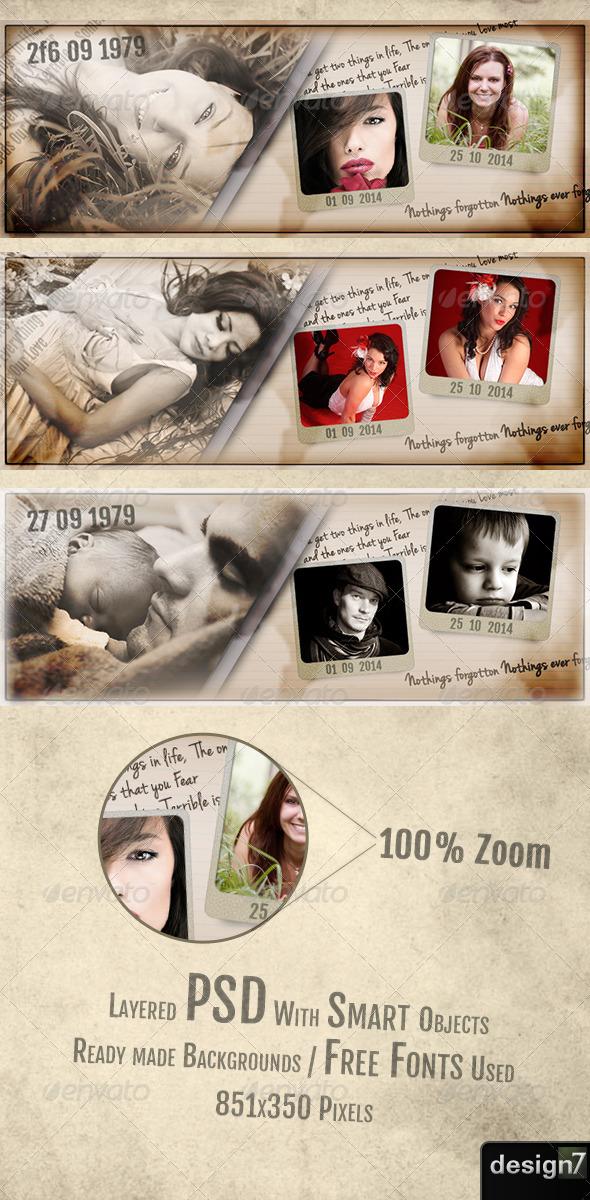 GraphicRiver Vintage Facebook Timeline Cover 6597642